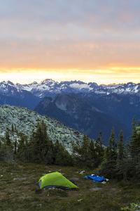 Morning Camp In The North Cascades Of Washington During A Summer Backpacking Trip by Hannah Dewey