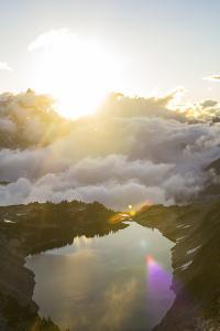Morning Sunrise An Alpine Lake In The North Cascades Of Washington During Summer by Hannah Dewey