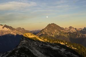 Mountain View Of The North Cascade Mountain Range During Summer In Washington by Hannah Dewey