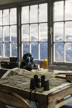 View From Inside A Fire Lookout In The North Cascade Mountain Range In Washington During Summer