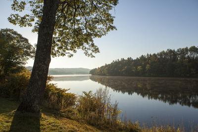 Early Morning on the Banks of the Kennebec River in Skowhegan, Maine