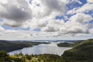 Somes Sound from the Summit of Acadia Mountain in Acadia National Park by Hannele Lahti
