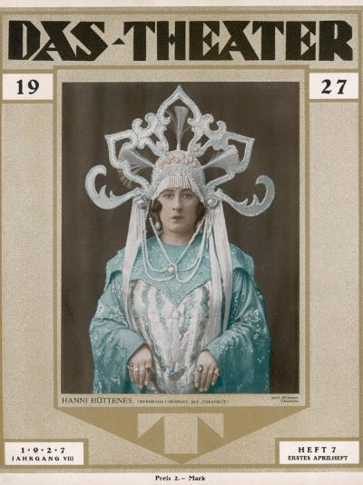 Hanni Huttenes as Turandot in a German Production at Chemnitz--Photographic Print