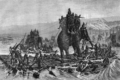 Hannibal Crossing the Rhone, 218 BC (1882-188)--Giclee Print