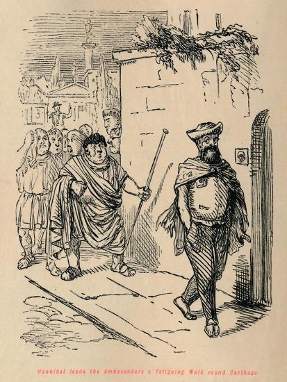'Hannibal leads the Ambassadors a fatiguing Walk round Carthage', 1852-John Leech-Giclee Print