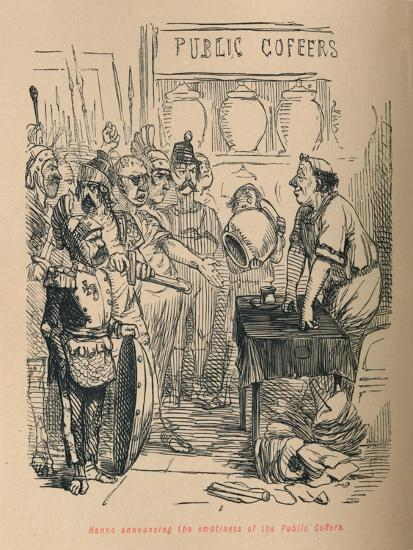 'Hanno announcing the emptiness of the Public Coffers', 1852-John Leech-Giclee Print