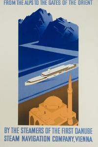 Danube Steam Navigation Company Poster by Hanns Wagula