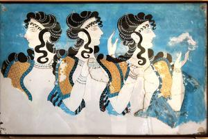 Minoan Ladies Mural Painting Fresco by Hannuviitanen