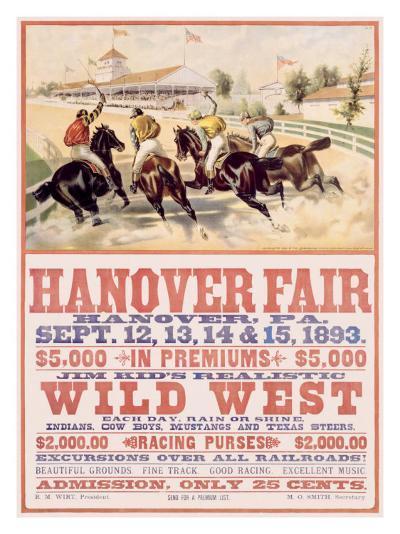 Hanover Fair Horse Race--Giclee Print