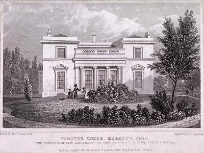 Hanover Lodge, Regent's Park, Marylebone, London, 1827-William Tombleson-Giclee Print