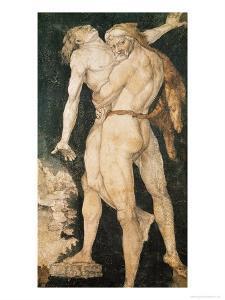 Hercules and Antaeus, circa 1530 by Hans Baldung Grien