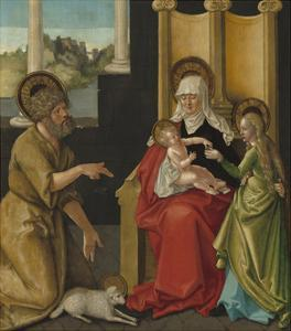 Saint Anne with the Christ Child, the Virgin, and Saint John the Baptist, c.1511 by Hans Baldung Grien