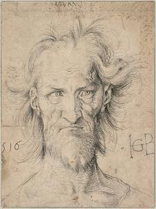 Head of a Bearded Old Man (Satur), 1516 by Hans Baldung