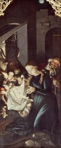 Nativity of Jesus, Panel of Stories of Virgin by Hans Baldung