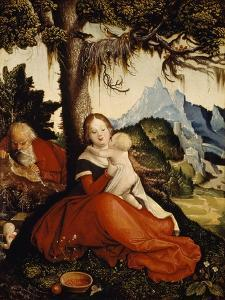 Rest on Flight into Egypt, 1514 by Hans Baldung
