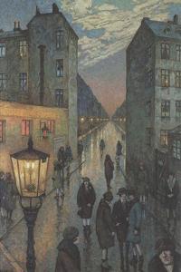 City Corner by Hans Baluschek