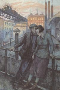 The Day Ends by Hans Baluschek