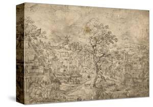 Landscape with Abraham and Angels, 1567 by Hans Bol