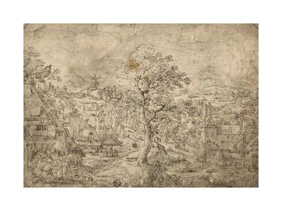 Landscape with Abraham and Angels, 1567