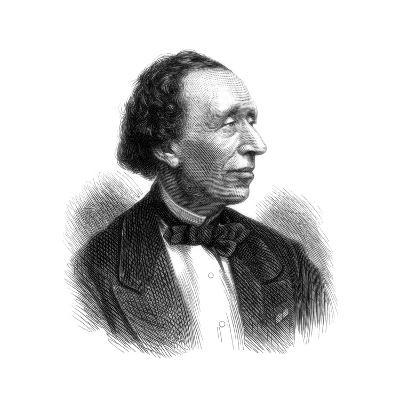 Hans Christian Andersen, Danish Poet and Author of Fairy Tales, 1875--Giclee Print