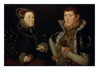 Lady Mary Neville and Her Son Gregory Fiennes, 10th Baron Dacre, 1559