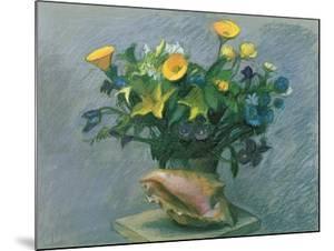 Conch & Flowers, 1989 by Hans Feibusch