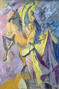 Elijah and Elisha, 1986 by Hans Feibusch