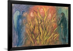 Moses & the burning bush, 1990 by Hans Feibusch