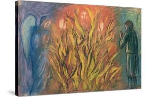 Moses & the burning bush, 1990 by Hans Feibusch