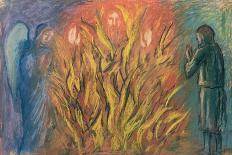 Moses & the burning bush, 1990-Hans Feibusch-Giclee Print