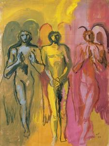Study of Angels, 1988 by Hans Feibusch
