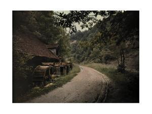 A View of a Dirt Country Road That Passes an Old Mill Near Fribourg by Hans Hildenbrand