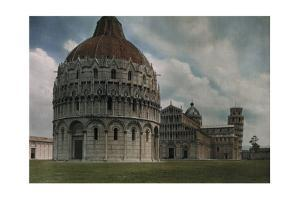 A View of the Baptistery, Cathedral and Leaning Tower in Pisa by Hans Hildenbrand