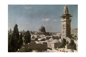 A View of the Dome of the Rock, a Scared Religious Landmark by Hans Hildenbrand