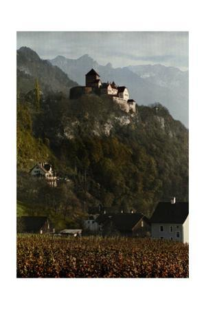 A View of Vaduz Castle in the Swiss Alps by Hans Hildenbrand