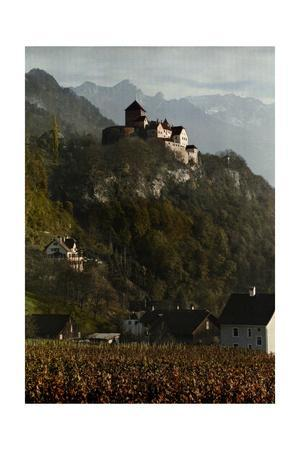 A View of Vaduz Castle in the Swiss Alps