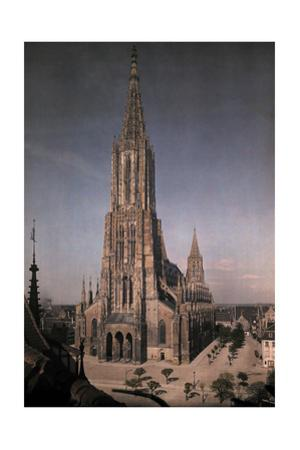 An Elevated View of the Munster Cathedral by Hans Hildenbrand
