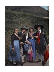 Folk from Murau Wear Costumes Distinctive of Mountainous Regions by Hans Hildenbrand