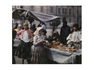 Peasant Women Sell Bread at the Market by Hans Hildenbrand