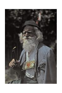 Portrait of an Elderly Man Who Works as a Street Cleaner by Hans Hildenbrand