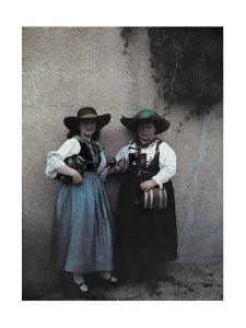 Two Women Sell Whiskey by Hans Hildenbrand