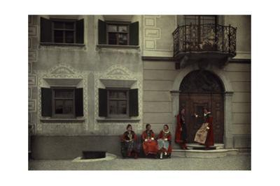 Women and the Planta House, Home to the Oldest Noble Engadine Family by Hans Hildenbrand