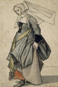 A Young English Woman, 16th Century by Hans Holbein the Younger