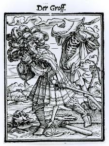 Death and the Count, from The Dance of Death, c.1538 by Hans Holbein the Younger