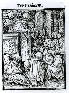 Death and the Preacher, from The Dance of Death, c.1538 by Hans Holbein the Younger