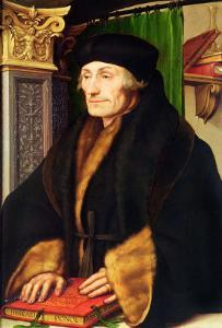 Erasmus, 1523 by Hans Holbein the Younger