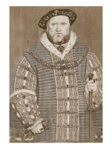 Henry Viii, Illustration from 'Cassell's Illustrated History of England' by Hans Holbein the Younger