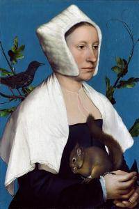 Lady with a Squirrel and a Starling, C.1526-28 by Hans Holbein the Younger