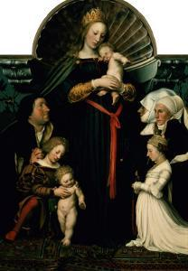 Madonna of the Burgermeister Meyer by Hans Holbein the Younger