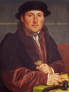 Portrait of a Young Merchant (Supposedly Hans Von Muffel from Nuremberg) by Hans Holbein the Younger